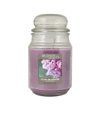 Hudson 43 Candle & Light Collection 18oz Value Jar Lilac Blossom