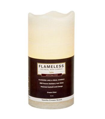 Inglow 3X6In Pillar Cream Flameless