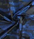 Casa Embellish Brocade Fabric -Navy Poppy