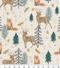 Snuggle Flannel Fabric-Sophisticated Woodland Sketch