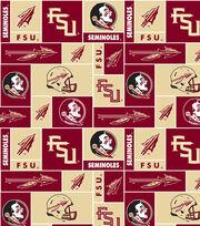Florida State University Seminoles Fleece Fabric 58''-Block, , hi-res