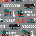 Nursery Flannel Fabric-Construction Words