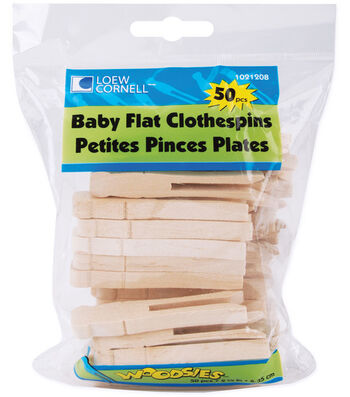 "Loew-Cornell 2-1/2"" Baby Flat Clothes Pins-50PK"