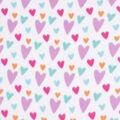 Blizzard Fleece Fabric-Multicolor Sketched Hearts