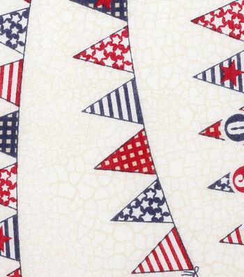 Patriotic Cotton Fabric 43''-USA Banner
