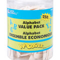 Loew-Cornell 1-9/16\u0022 Wood Alphabet Value Tub-250PK