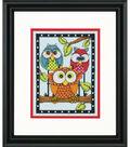 Dimensions 5\u0027\u0027x7\u0027\u0027 Counted Cross Stitch Kit-Owl Trio