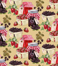 Novelty Cotton Fabric 43\u0022-Blackberry Jam