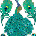 Jolee\u0027s Boutique 5 pk Peacock Stickers