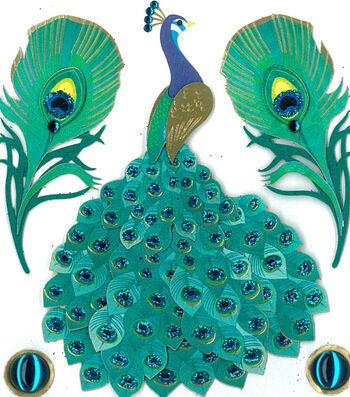 Jolee's Boutique 5 pk Peacock Stickers