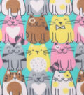 Blizzard Fleece Fabric -Happy Cats
