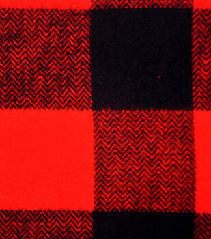 Cotton Shirting Fabric 42''-Orange & Black Checked