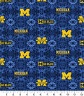 University of Michigan Wolverines Flannel Fabric-Tie Dye