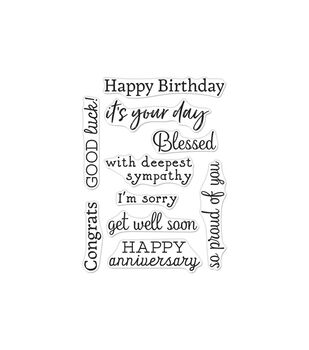 Hero Arts Greetings Clear Stamps 3''X4'' Occasions