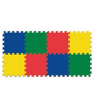 """Carpet Tiles, Solid Color Expansion Pack, 12"""" x 12"""", 4 Count"""