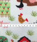 Anti-Pill Plush Fleece Fabric-Barnyard Friends