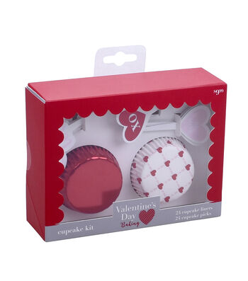 Valentine's Day Baking Cupcake Kit-Hearts