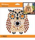 Jolee\u0027s Halloween Pumpkin Bling Stickers 6.5\u0022X6.5\u0022-Owl