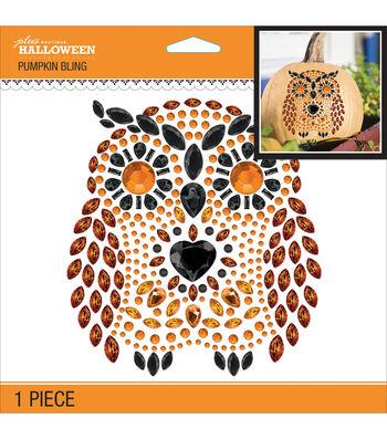 "Jolee's Halloween Pumpkin Bling Stickers 6.5""X6.5""-Owl"