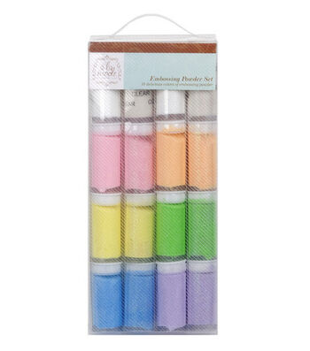 Hampton Art A La Mode 16 pk. Embossing Powder Set-Pastel