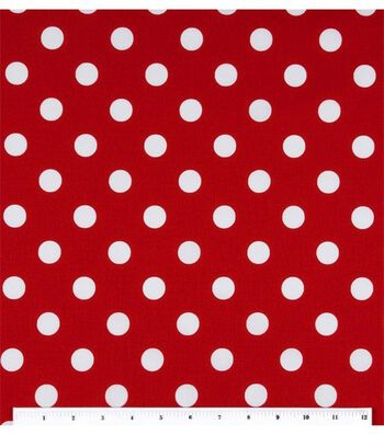 Keepsake Calico Cotton Fabric -Large Dots On Lipstick