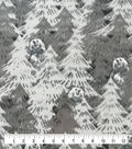 Anti-Pill Plush Fleece Fabric-Explore Bear In Pines