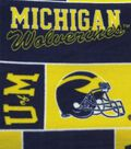 University of Michigan Wolverines Fleece Fabric 58\u0027\u0027-Block