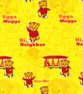 Disney Junior Daniel Tiger Flannel Fabric 42\u0027\u0027-Grr-ific on Yellow