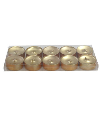 Hudson 43™ Candle & Light Collection 10 Pack Poured Tealights Unscented Gold