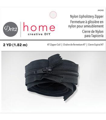 """Dritz Home 72"""" Nylon Upholstery Zipper-Black"""