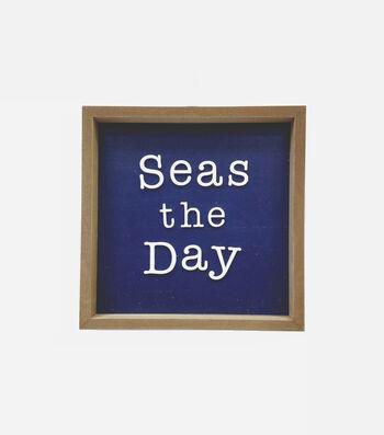 Indigo Mist Word Block-Seas the Day