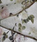 Gianna Silk Blend Double Jacquard Print Fabric 53\u0022-Eggnog Rose