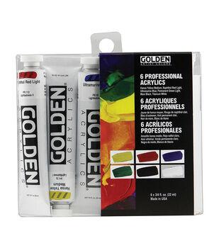 Golden Artist Colors 6 pk 0.75 fl. oz. Professional Acrylics