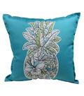 Patio Oasis 17\u0022x17\u0022 Teal Pineapple Outdoor Pillow