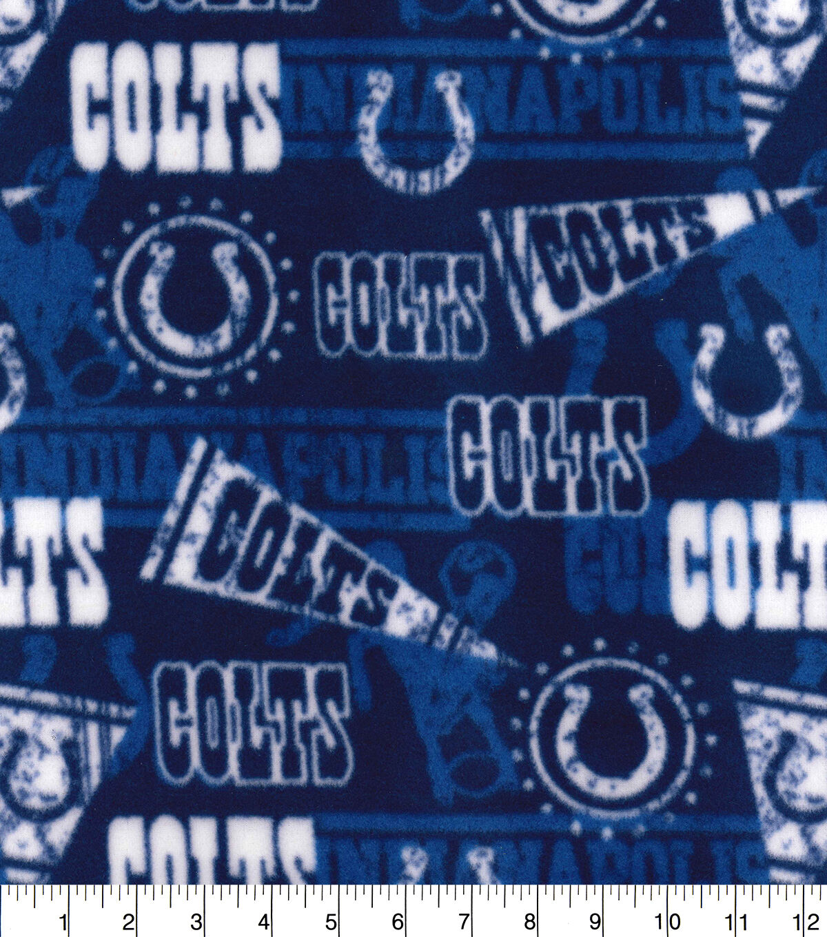 8 Indianapolis Colts Fabric Applique Iron On Ons