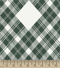 Green Plaid Print Fabric