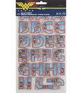 Wrights Detective Comics Wonder Woman 58 pk Alphabet Iron-On Transfers