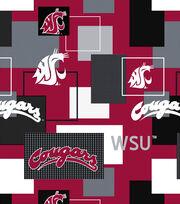 Washington State University Cougars Cotton Fabric 43''-Modern Block, , hi-res