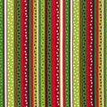 Christmas Cotton Fabric -Dot Stripe