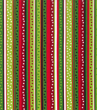 christmas cotton fabric dot stripe