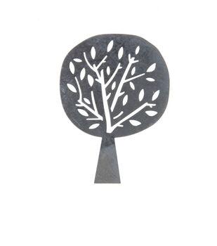 Simply Autumn Craft 3''x4'' Galvanized Tree Icon