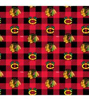 Chicago Blackhawks Fleece Fabric-Buffalo Plaid, , hi-res