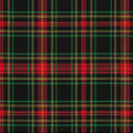 Christmas Cotton Fabric-Traditional Plaid with Glitter