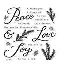 Hero Arts Clear Stamps 4\u0022X6\u0022-Peace, Love & Joy
