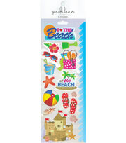Park Lane Paperie 15 pk Stickers-Beach, , hi-res