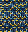 Snuggle Flannel Fabric-Paws And Hearts Navy