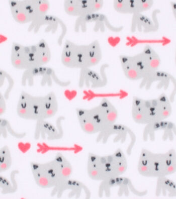 Blizzard Fleece Fabric 59''-Watercolor Kitty