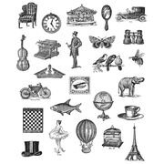 """Tim Holtz Cling Stamps 7""""X8.5""""-Tiny Things, , hi-res"""