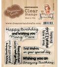 Dreamerland Crafts Clear Stamp Set 3\u0027\u0027x4\u0027\u0027-Birthday Sentiments 001