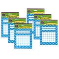 Aqua Chevron Incentive Charts, 36 Per Pack, 12 Packs
